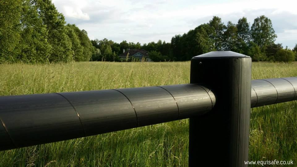 Post And 2 Rail Electric Fencing Black Equisafe Fencing Uk