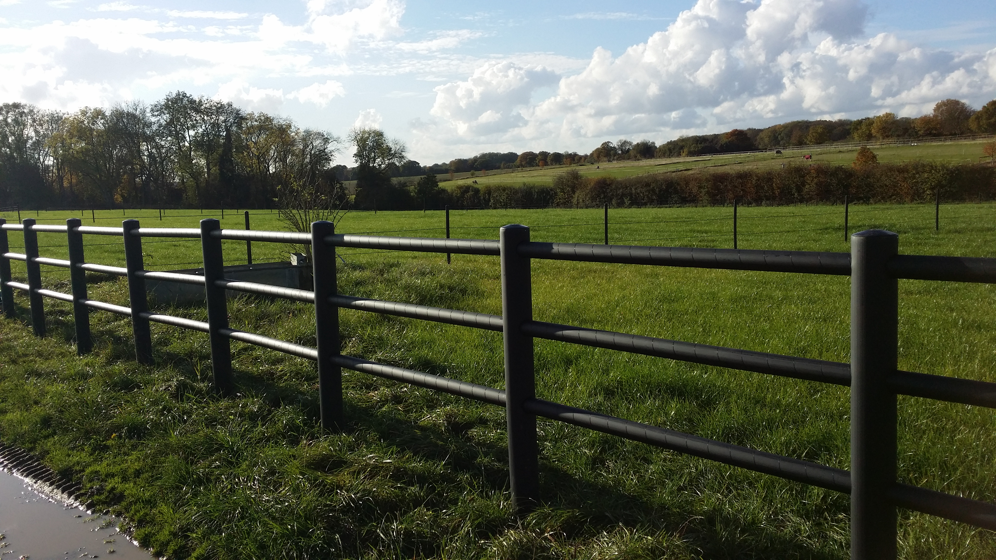 Post And 3 Rail Electric Fencing Black Equisafe Fencing Uk